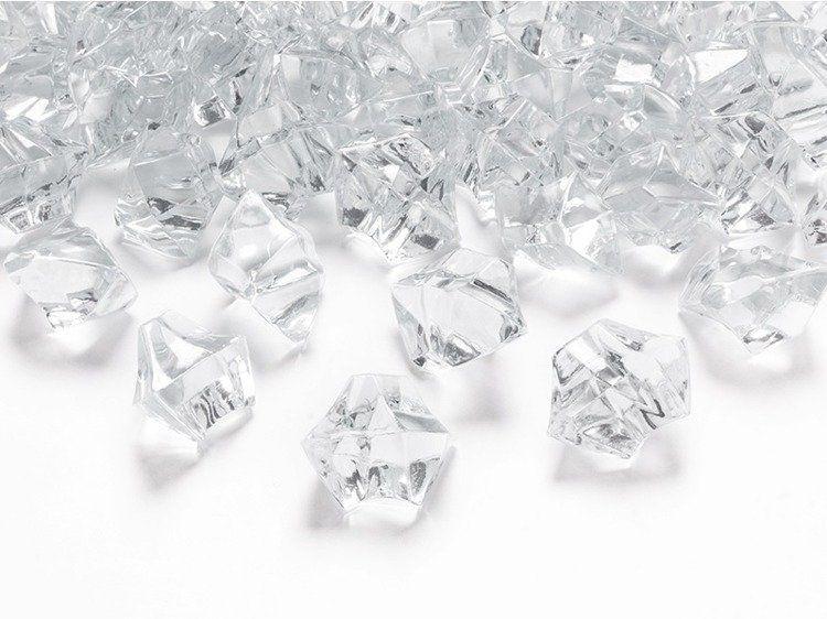 Kryształowy lód bezbarwny 50szt ac25-099