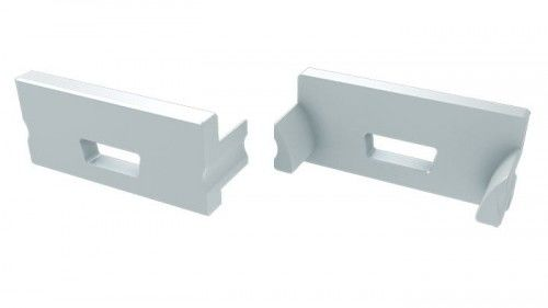 Zaślepka 1 sztuka do profili LED wpuszczanych TERRA - biała z otworem
