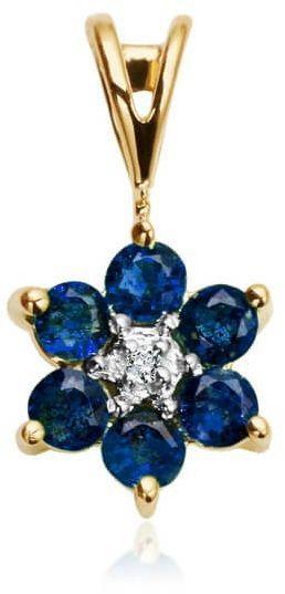 Złoty wisiorek WZD0744 - Diament