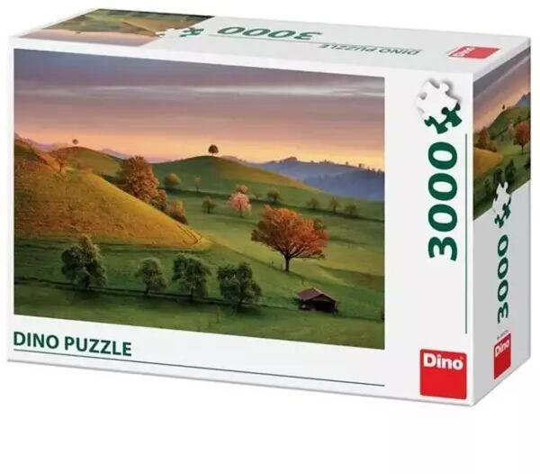 Puzzle 3000 Szwajcaria,Widok na pola - Dino Toys