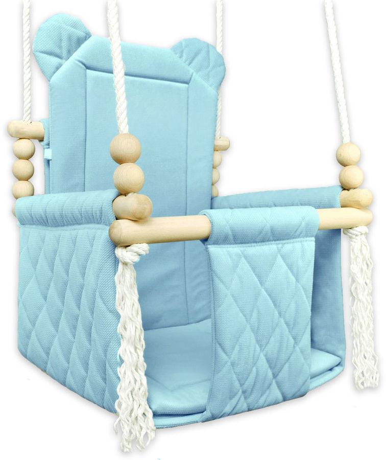 Niebieska drewniana huśtawka dziecięca - Brisa