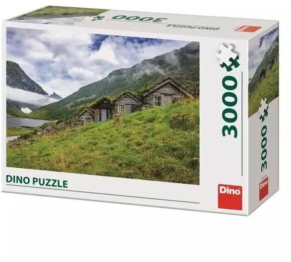 Puzzle 3000 Norwegia, Wioska nad Fiordem - Dino Toys