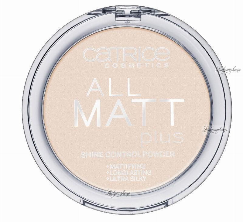 Catrice - PUDER - All matt plus shine control powder - Puder neutralizujący świecenie skóry - 010 - TRANSPARENT