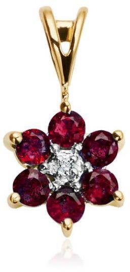 Złoty wisiorek WZD1169 - Diament