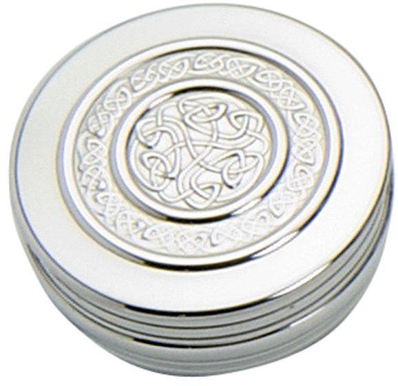 Edwin Blyde & Co celtycka lina designerska pudełko na drobiazgi, 50 mm x 20 mm, cyna, 7,5 x 7,5 x 3 cm