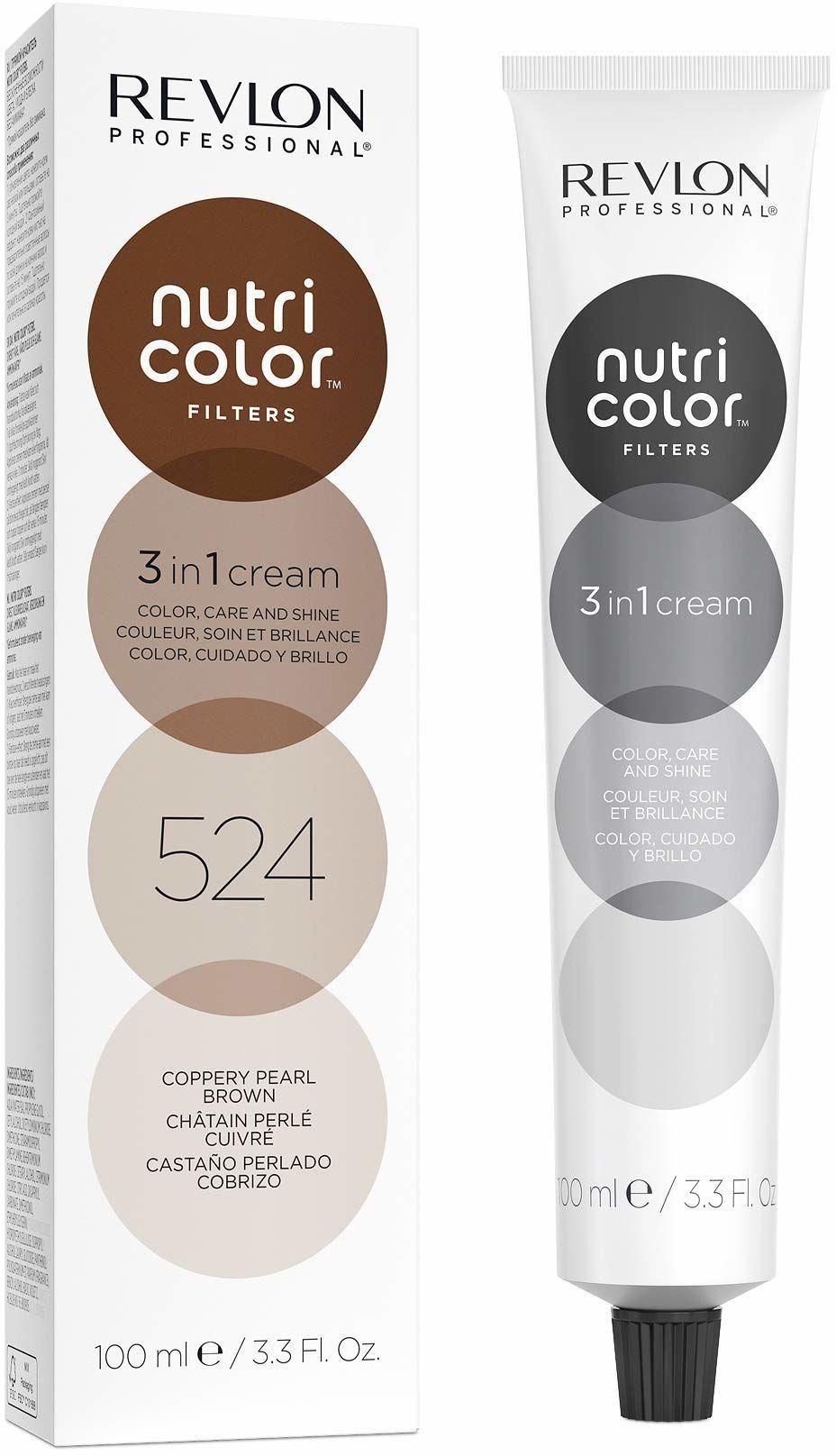 Nutri Color Filter  TONING FILTERS 524 jasnobrązowy irisé miedź, 100 ml, pielęgnująca maska z technologią Insta-PIC-TECHNOLOGY , maska barwiąca do odświeżenia kolorów kasztanowców