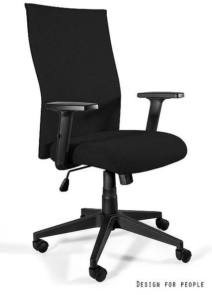 UNIQUE Fotel obrotowy BLACK ON BLACK PLUS