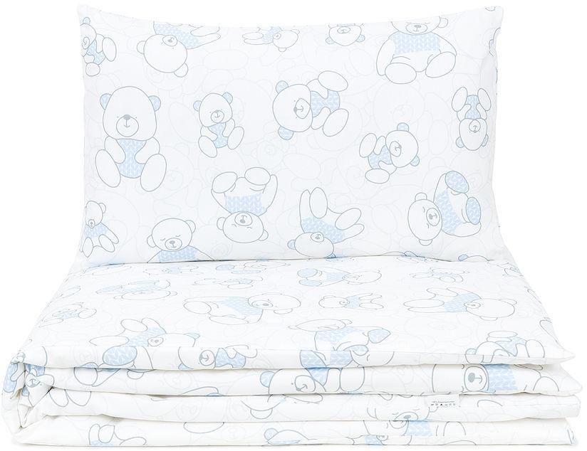 MAMO-TATO 2-el pościel dla niemowląt LUX - Misie niebieskie