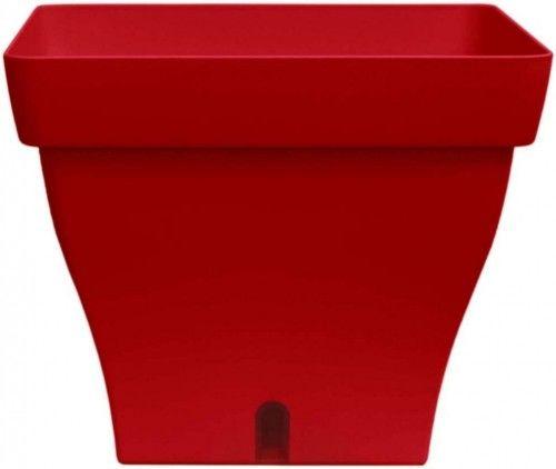 Doniczka samonawadniająca 6,2l Czerwona, 24x24cm, Papyrus