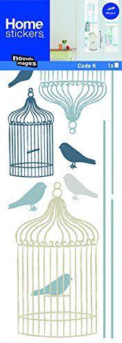 Naklejka na okno klatka dla ptaków - folia okienna dekoracja okienna - obraz na okno