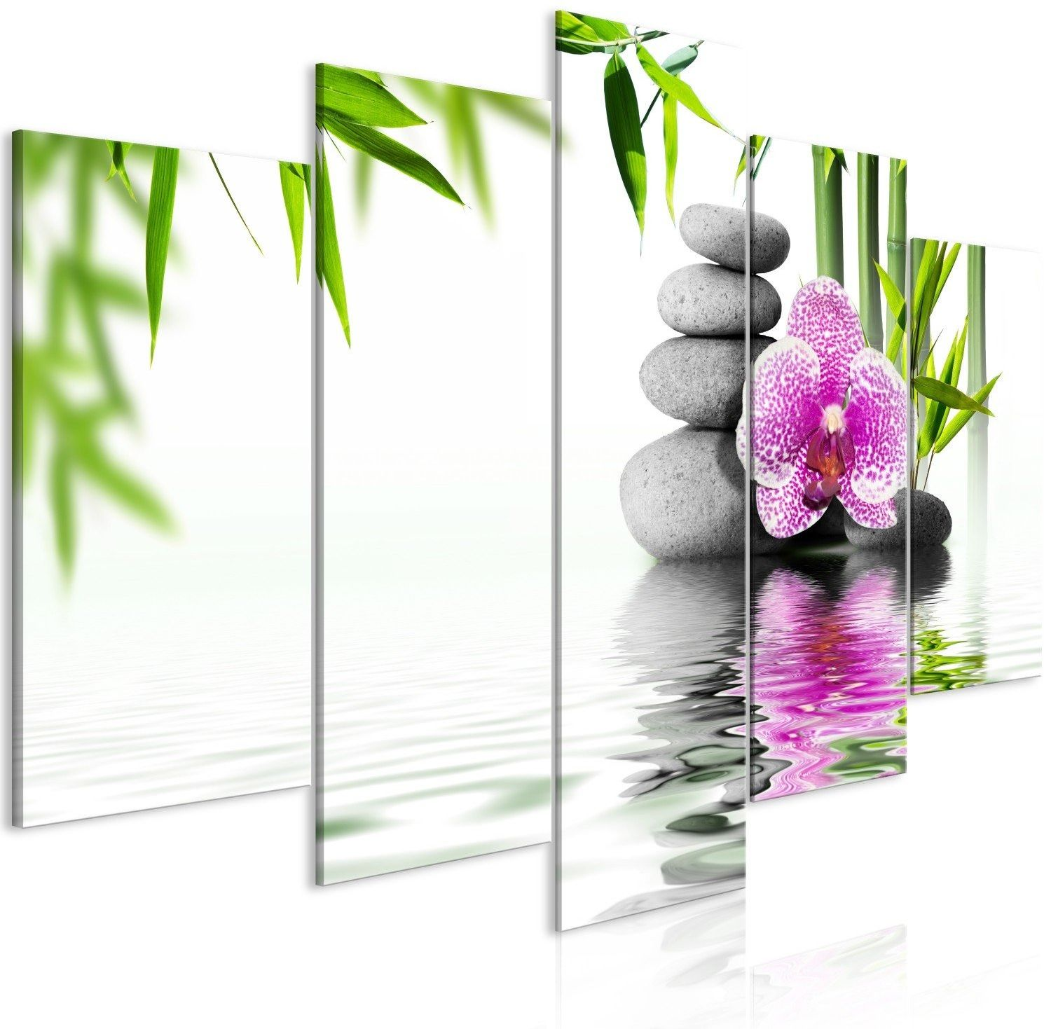 Obraz - ogród wodny (5-częściowy) szeroki
