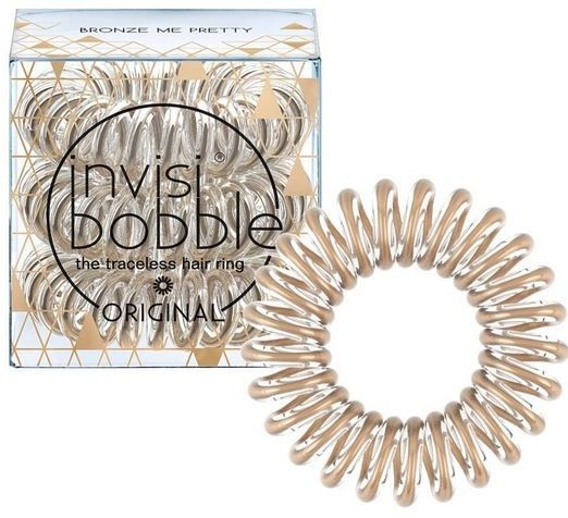 INVISIBOBBLE Bronze Me Pretty - brązowa gumka do włosów 3 pack