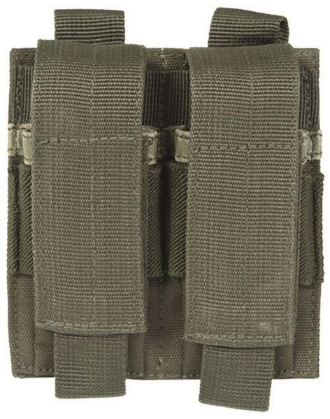 Ładownica Mil-Tec na 2 magazynki pistoletowe - olive (13495501)