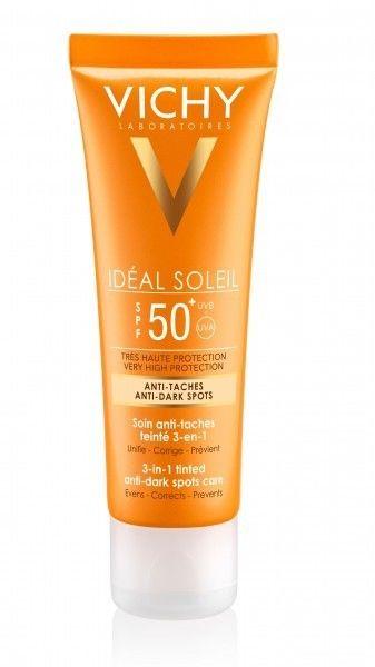 Vichy Capital Soleil krem barwiący do twarzy zapobiegający przebarwieniom SPF 50+, 50 ml