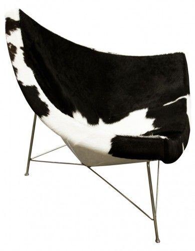 Fotel Kokos Skóra PONY Insp. Projektem Coconut Chair