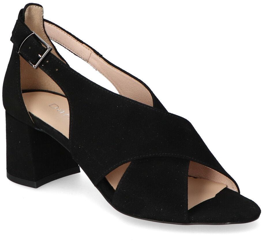 Sandały Damiss DS-483/A Czarne zamsz
