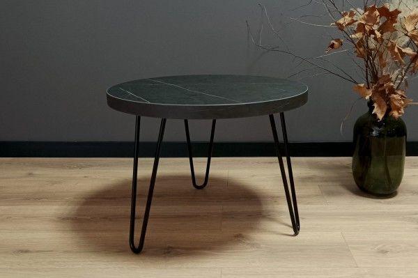 Okrągły stolik kawowy SIMPLE 60 Wytrawny szary kamień
