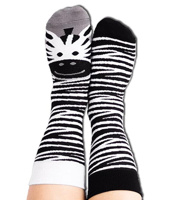 Skarpety kolorowe zebra - Lady Zebra