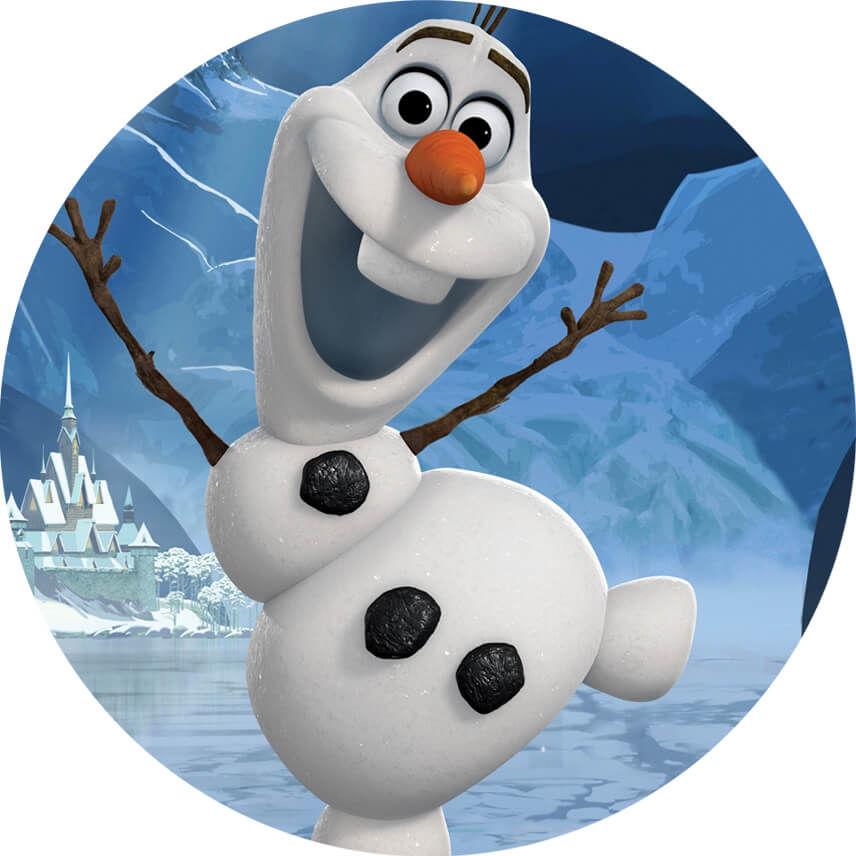 Dekoracyjny opłatek tortowy Frozen - Olaf - 20 cm