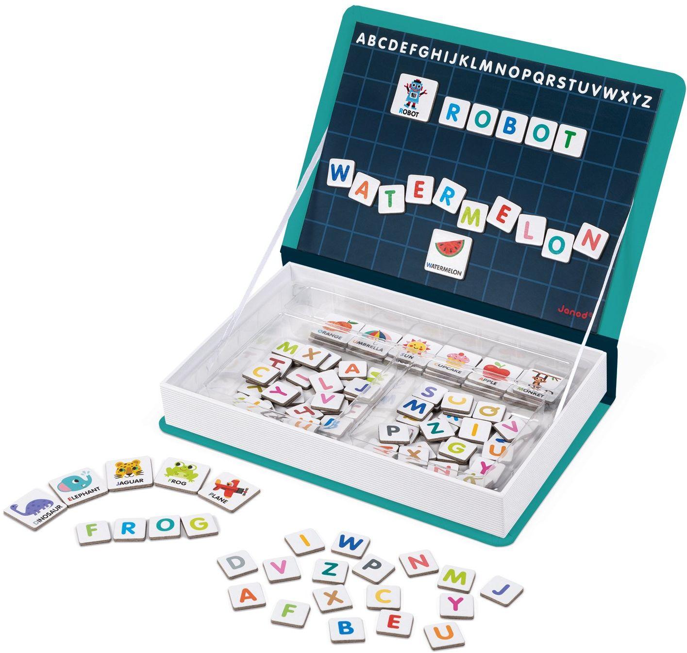 Janod J02712 Magneti''Book Alfabet Gra edukacyjna, wersja angielska