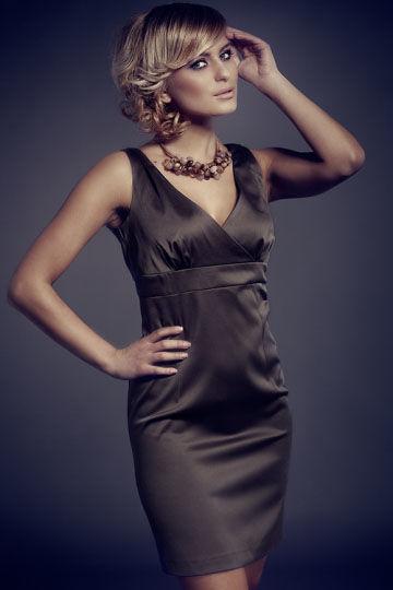 Sukienka Monique Mod. Nr 51 Oliwka