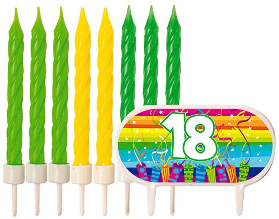 Zestaw dekoracji na tort na osiemnaste urodziny - 1 komplet.
