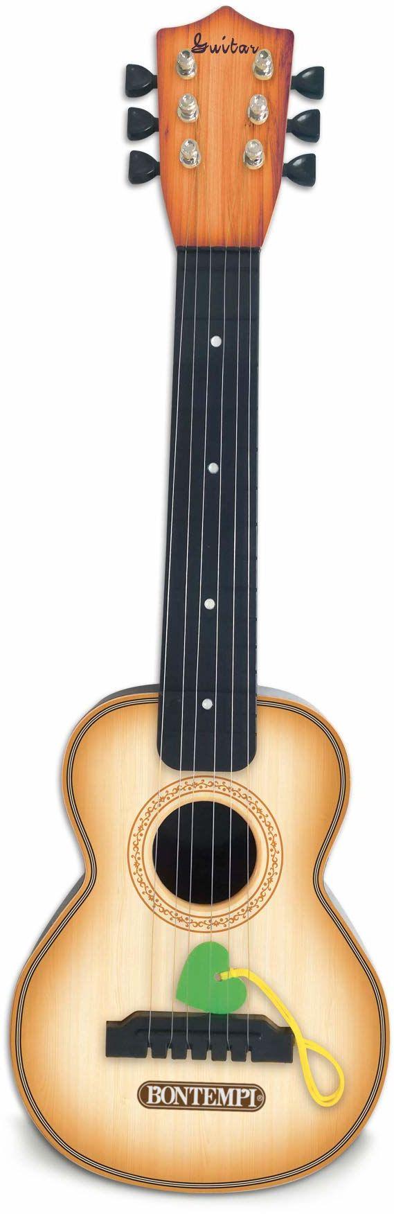 Bontempi 20 5510 klasyczna gitara z 6 metalowymi strunami, drewno