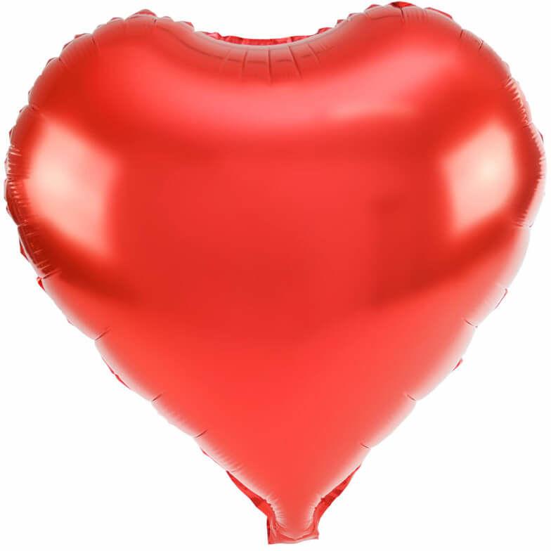 Balon foliowy Serce czerwone - 45 cm - 1 szt.