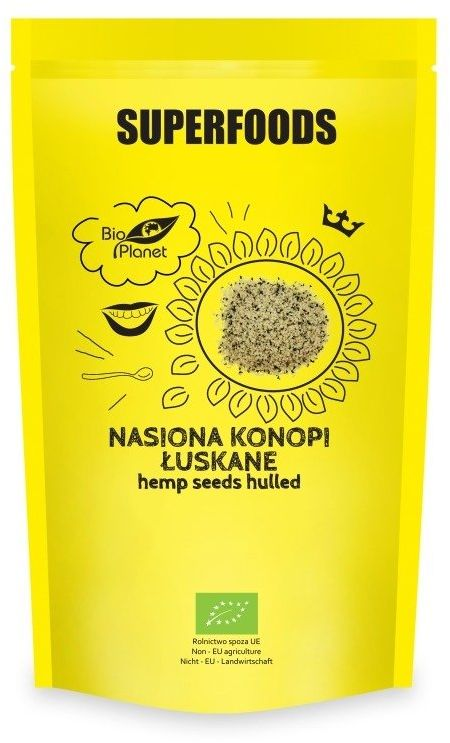 Nasiona Konopi Łuskane 200g - Bio Planet Superfoods
