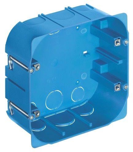 Puszka podtynkowa 8M (4+4) do ścian lekkich niebieska