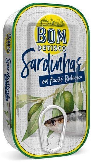 Sardynki w oliwie z oliwek BIO 120g Bom Petisco