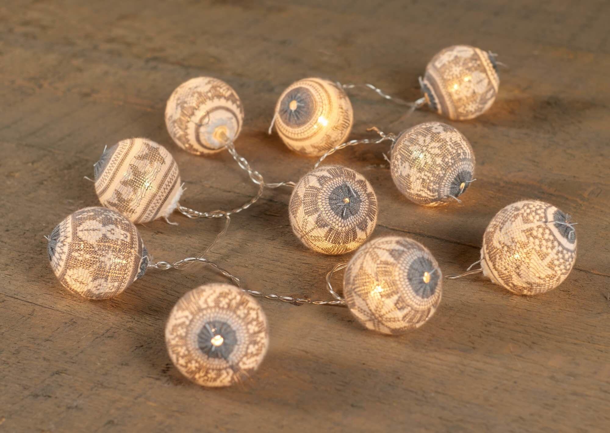 Świecące lampiony kule LED