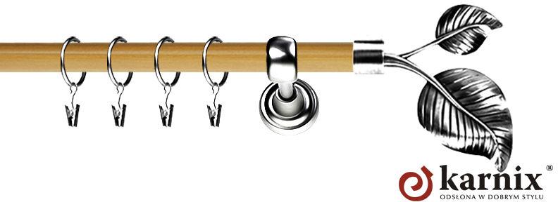 Karnisz Metalowy Prestige pojedynczy 19mm Sorento INOX - pinia