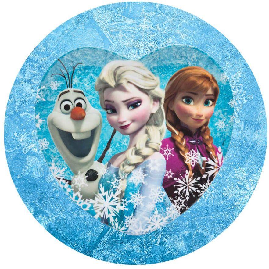 Dekoracyjny opłatek tortowy Frozen - 20 cm
