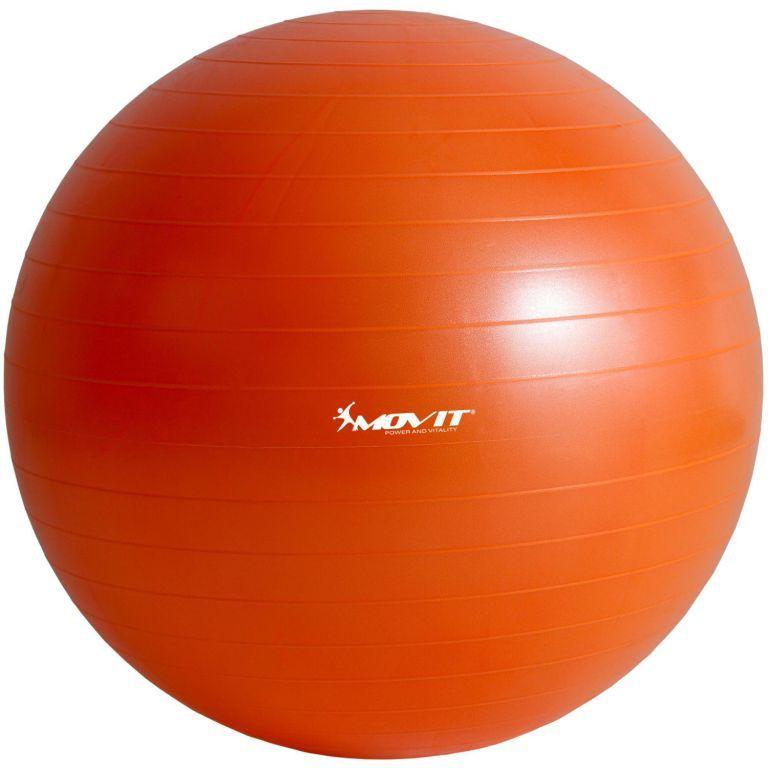 Piłka gimnastyczna MOVIT z pompką - 75 cm - Pomarańczowa