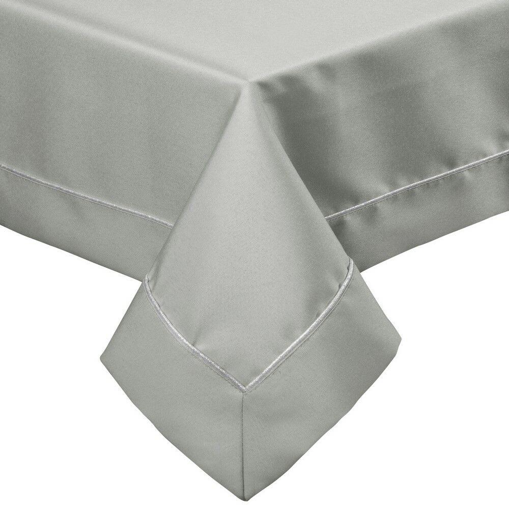 Obrus 145x260 Madele srebrny srebrna lamówka w pudełku Eurofirany