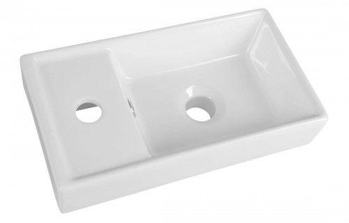 Mała umywalka ceramiczna 40x22x8cm meblowa, dwustronna