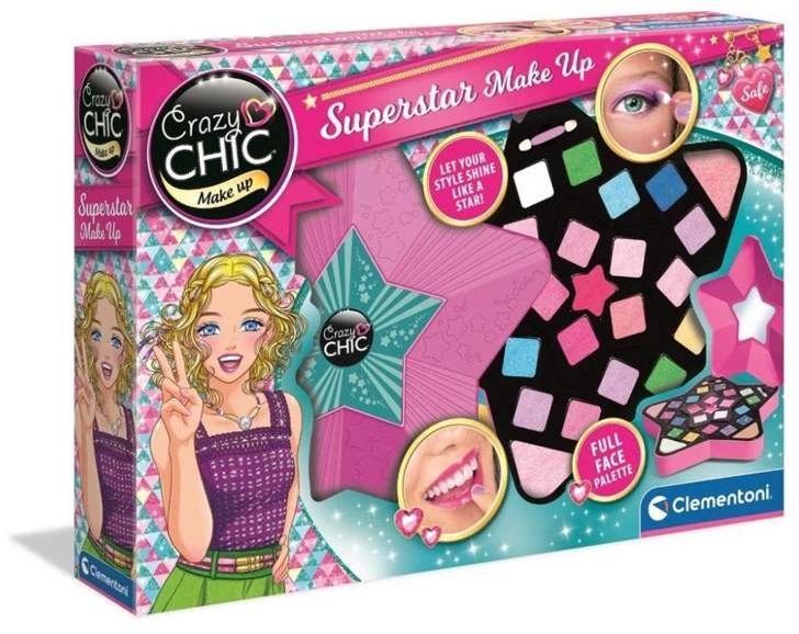 Crazy Chic. Zestaw kreatywny Superstar Make Up - Clementoni