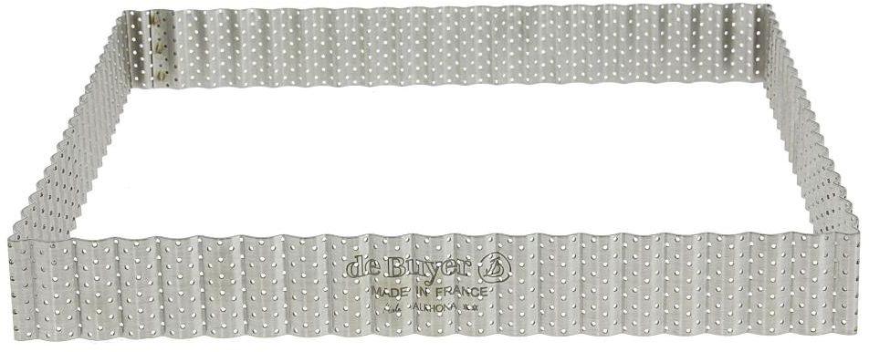 Rant piekarniczo-cukierniczy kwadratowy perforowany - 23x23 cm