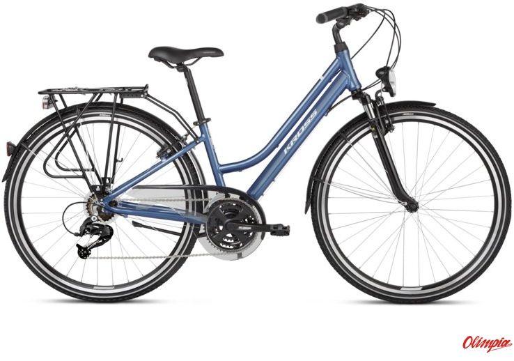 Rower Kross Trans 2.0 SR niebieski/biały połysk 2021