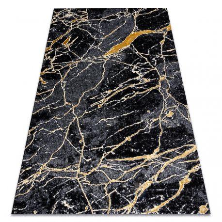 Dywan GLOSS nowoczesny 529A 82 Marmur, kamień, stylowy, glamour czarny / szary 80x150 cm