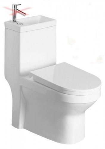 Kompakt WC z umywalką 36,5x78x72cm + deska soft-close, odpływ uniwersalny: pion lub poziom HYGIE