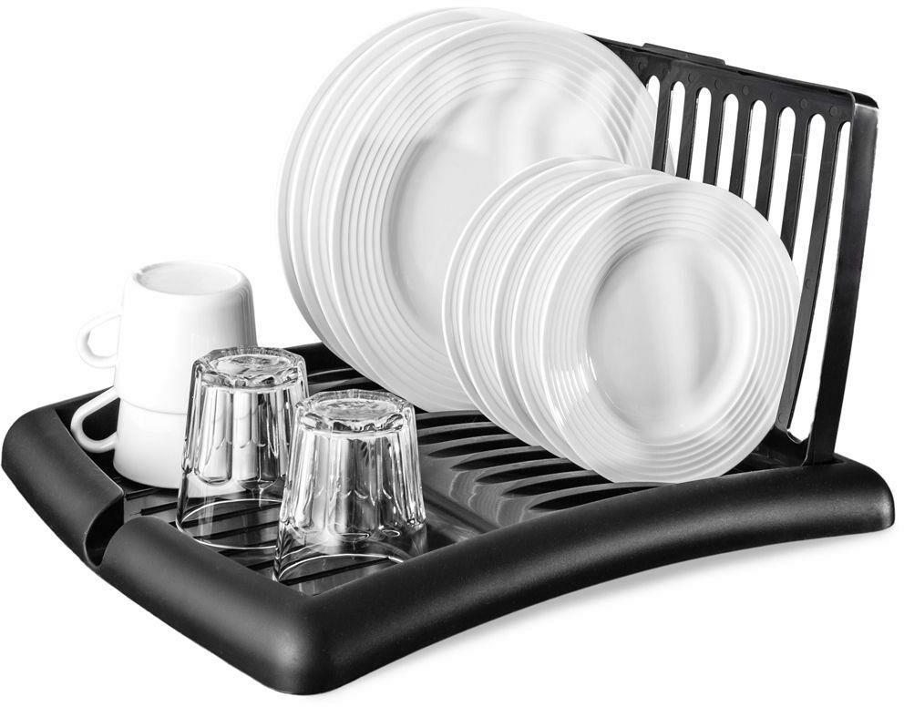 Suszarka na naczynia czarna ociekacz do naczyń 45x39x26 cm