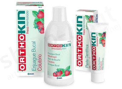 KIN OrthoKIN - pasta do zębów Truskawkowo - miętowa 75 ml - ortodontyczna
