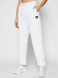 Tommy Jeans Spodnie dresowe Tjw Hrs Badge DW0DW09740 Biały Relaxed Fit