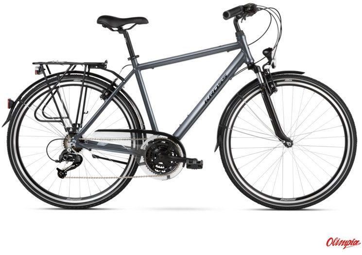 Rower Kross Trans 2.0 SR grafitowy/czarny połysk 2021