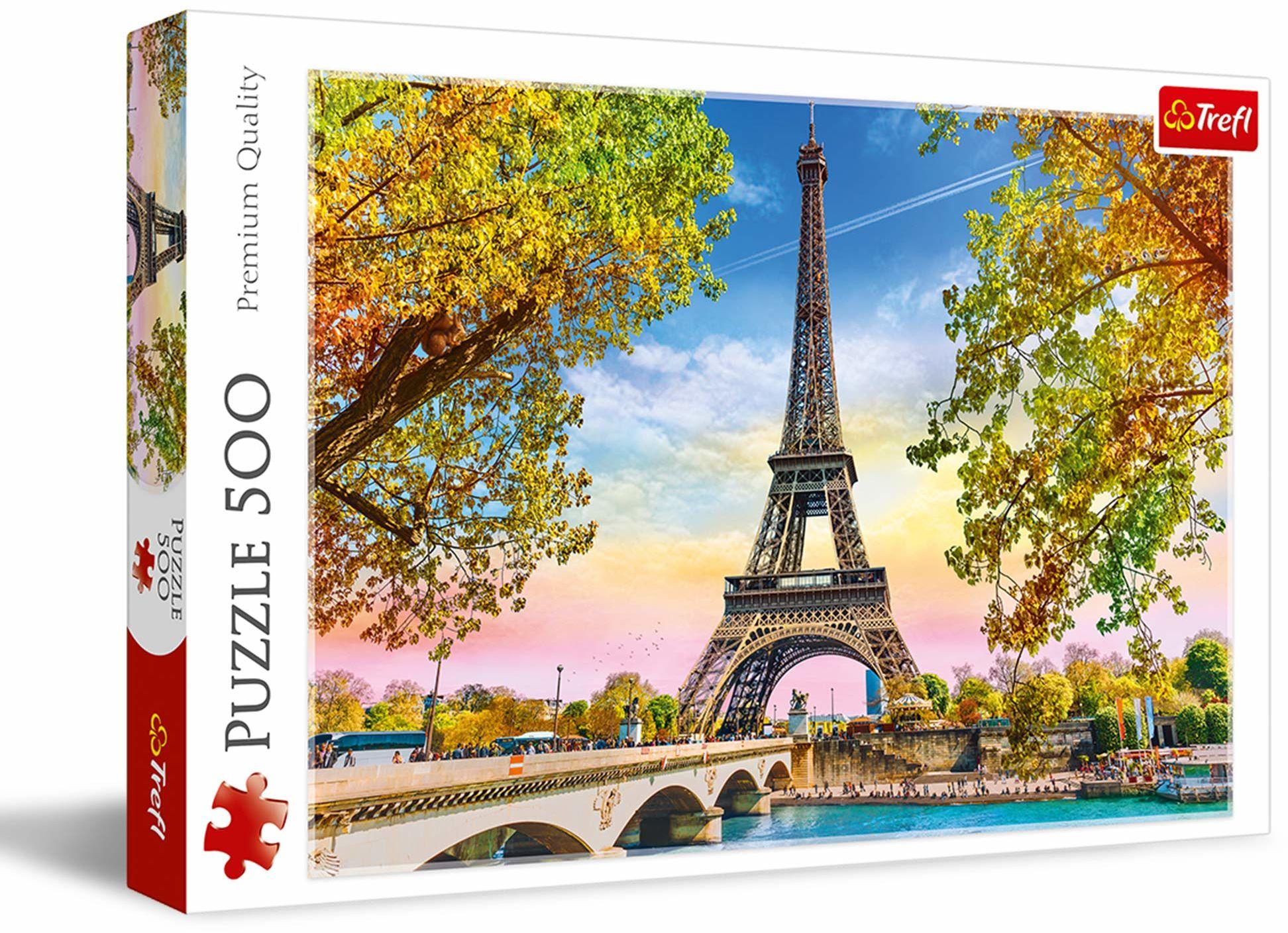 Trefl Romantyczny Paryż Puzzle 500 Elementów o Wysokiej Jakości Nadruku dla Dorosłych i Dzieci od 10 lat