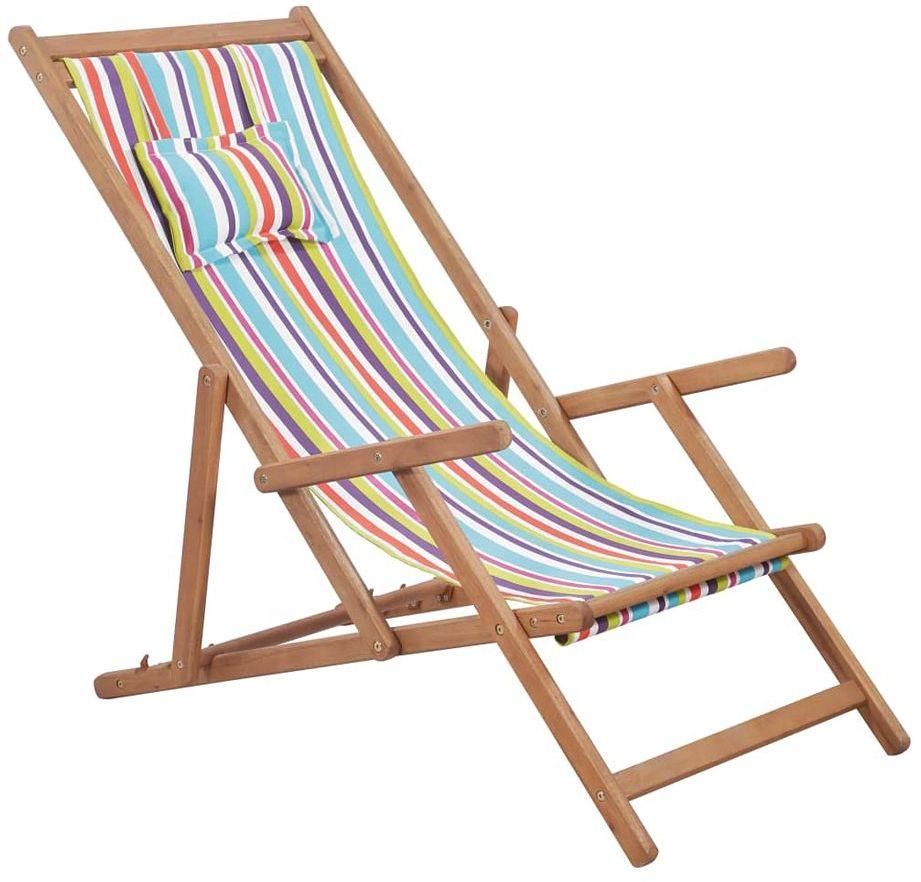 Wielokolorowy składany leżak plażowy - Inglis