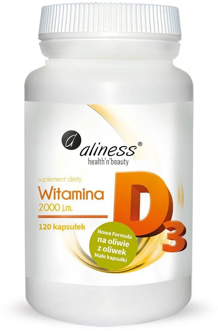 Witamina D3 2000 IU (120 kaps) Aliness