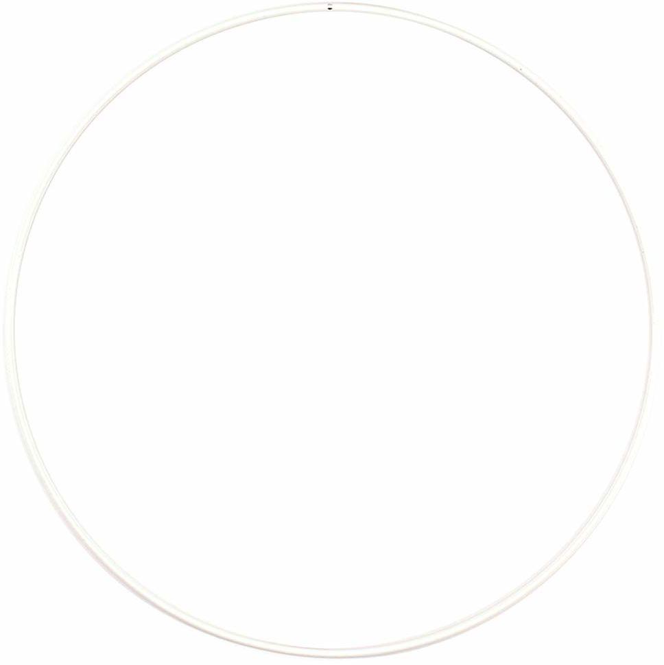 Vaessen Creative Rzemiosło metalowe, białe, Ø 25 cm lub 9,8 cala, grubość 3 mm, obręcz łapacz snów, pierścień wieniec do powieszenia na ścianie makramy, szydełka, dekoracja boho, dekoracja ślubna, 25